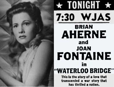 Joan Fontaine in Waterloo Bridge 1941
