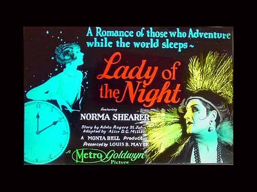 Norma Shearer in Lady Of The Night 1925