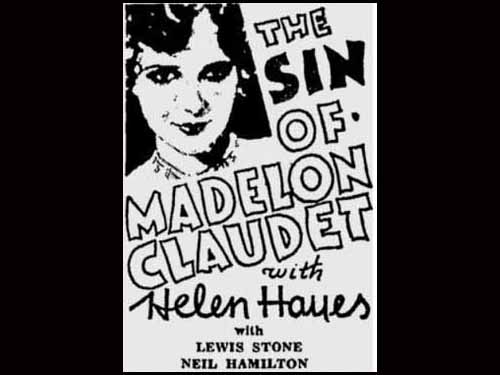 Helen Hayes in The Sin of Madelon Claudet 1933