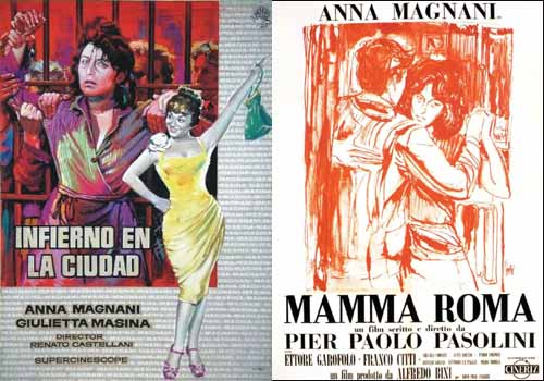 Anna Magnani in …and the Wild Wild Women 1959 and Mamma Roma 1962