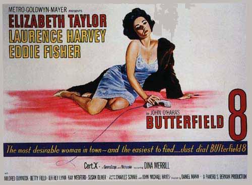 Elizabeth Taylor in BUtterfield 8 1961