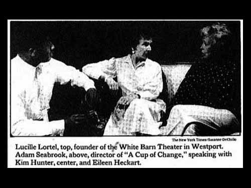 """Kim Hunter, center, and Eileen Heckart in rehearsal for """"A Cup of Change"""""""