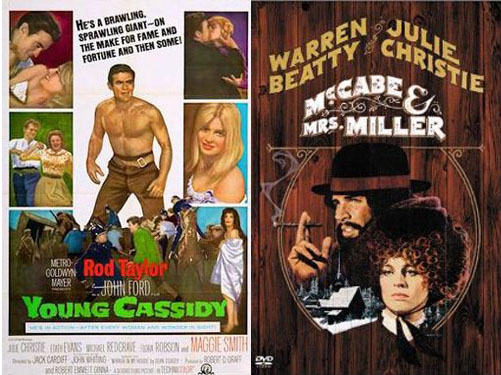 Julie Christie in Young Cassidy 1965 and McCabe & Mrs. Miller 1971