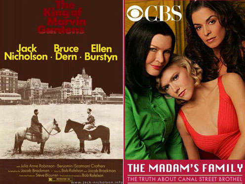 Ellen Burstyn in The King of Marvin Gardens 1972 and The Madam's Family 2004