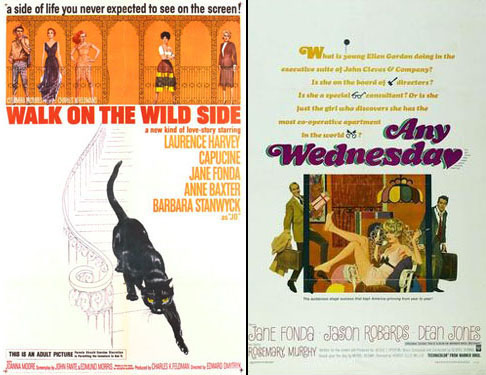 Jane Fonda in Walk on the Wild Side 1962 and Any Wednesday 1966