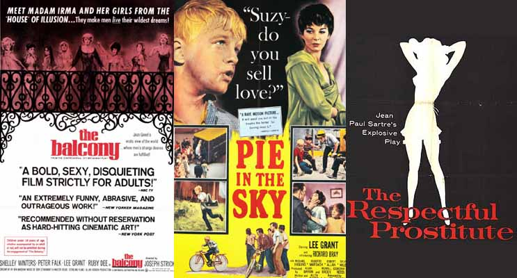 Lee Grant in The Balcony 1963, Terror In The City 1964, and The Respectful Prostitute 1964