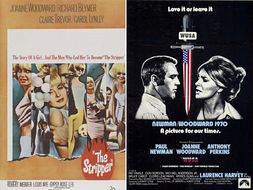 Joanne Woodward in The Stripper 1963 and WUSA 1970