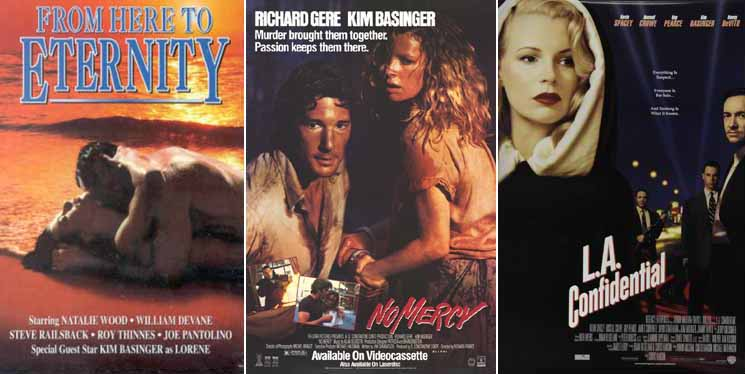 Kim Basinger in From Here to Eternity 1979, No Mercy 1986 and L.A. Confidential 1998