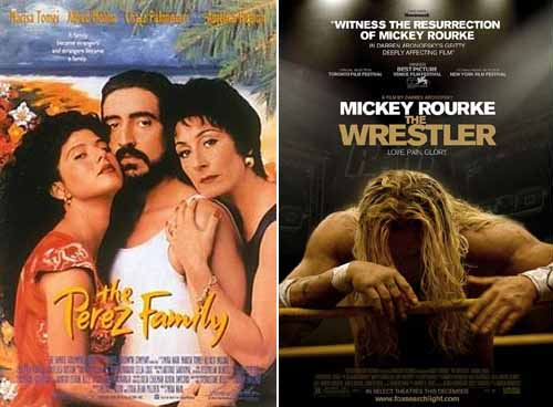Marisa Tomei in The Perez Family 1995 and The Wrestler 2008