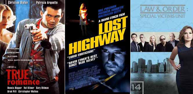 Patricia Arquette in True Romance 1993 Lost Highway 1997 and Law & Order: Special Victims Unit 2012