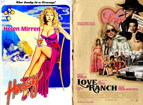 Helen Mirren in Hussy 1980 and Love Ranch 2010