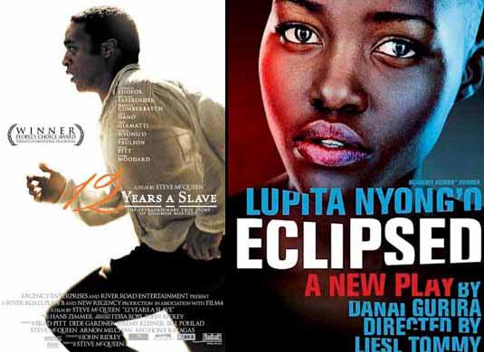 Lupita Nyong'o in 12 Years A Slave 2013 and  The Eclipsed 2015