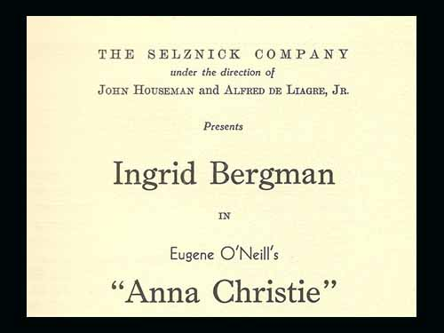 Ingrid Bergman in Anna Christie 1941
