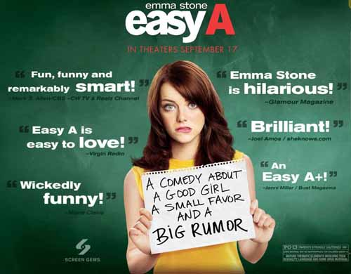 Emma Stone in Easy A 2010