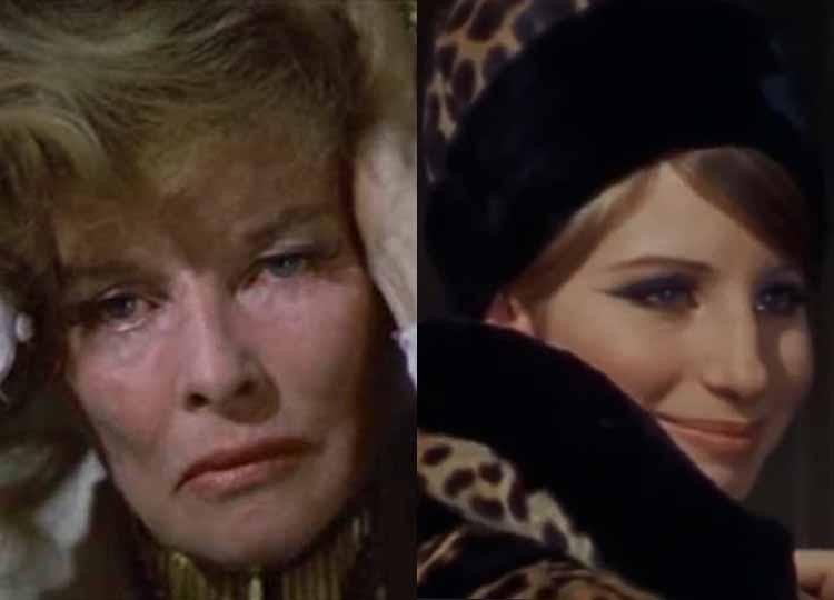Katharine Hepburn Barbra Streisand 1969 Tie For Best Actress